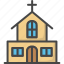building, church, colored, easter, holidays icon