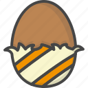 chocolate, colored, easter, egg, holidays icon