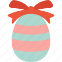 chocolate, easter, egg, holidays, ribbon icon