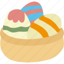 basket, easter, egg, holidays icon