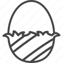 chocolate, easter, egg, holidays, line, outline icon