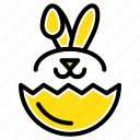 easter, egg, robbit icon