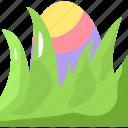 easter, easter egg, egg, grass, nature