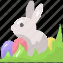 animal, bunny, egg, rabbit, zoo