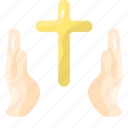 cross, pray, prayer, religion