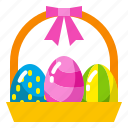 basket, celebration, decoration, easter, egg, spring icon