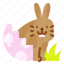 animal, bunny, easter, egg, rabbit