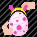 bunny, celebration, decoration, easter, egg icon
