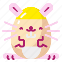 bunny, decoration, easter, egg, rabbit icon