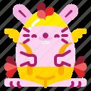 animal, bunny, chicken, costume, easter, rabbit