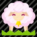 animal, cute, farm, mammal, sheep icon