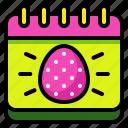 calendar, celebration, day, easter, egg