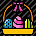 basket, celebration, decoration, easter, egg, spring