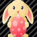 bunny, easter, egg, rabbit, spring icon