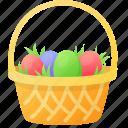 basket, celebration, decoration, easter, egg, spring icon
