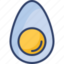 boiled, breakfast, delicious, egg, food, hard, yolk icon