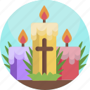 nature, candle, easter, colorful, trinity, holy icon