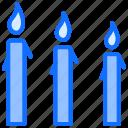 easter, candles, light, celebration