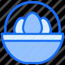 easter, eggs, bowl, food