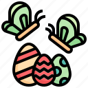 butterfly, animal, bug, insect, easter, egg