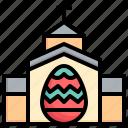 church, cathedral, landmark, cross, christianity, egg