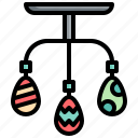 mobile, hanging, celebration, decoration, easter, egg