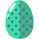 celebration, decorated, decoration, dotted, easter, egg icon