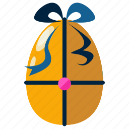 celebration, decorated, decoration, easter, egg, eggs icon
