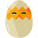 animal, chick, easter, egg, hatch, hatcheling icon