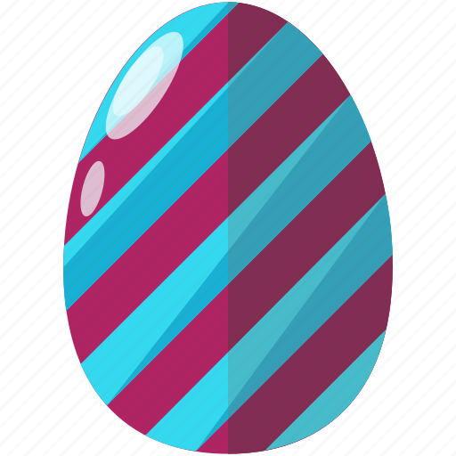 decorated, easter, egg, painted, striped, stripes icon