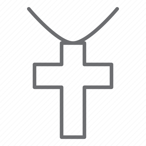 Cross, necklace, christian, religion icon - Download on Iconfinder