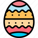 colored, easter, egg, painted icon