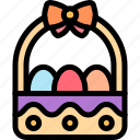basket, easter, egg, eggs icon