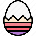 boiled, easter, egg, paint icon