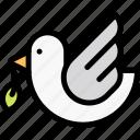 animal, bird, dove, easter, olive icon