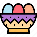 bowl, easter, egg, eggs icon