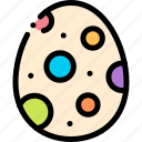 color, easter, egg, paint icon