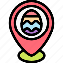 easter, egg, pin, placeholder icon