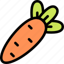 carrot, easter, food, vegetable icon