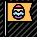 banner, easter, egg, flag icon