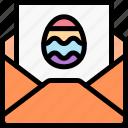 easter, egg, letter icon