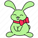 bow, bunny, easter, gift, pretty, rabbit, smart icon