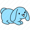animal, bunny, cute, easter, flap, rabbit icon