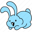 bunny, easter, laugh, play, rabbit, smile icon