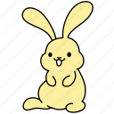 animal, bunny, easter, pet, rabbit, smile, yellow icon