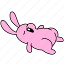 bunny, easter, nap, rabbit, sleep, tired, yawn icon