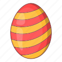easter, egg, holiday, striped icon