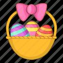 basket, easter, egg, holiday