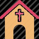 chapel, christians building, church, church building icon