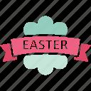 easter, easter badge, easter label, easter ribbon icon